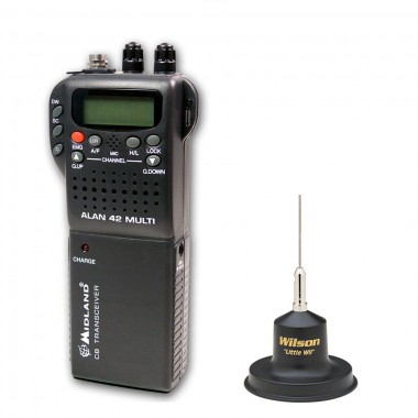 Pachet statie radio Alan 42 cu antena Wilson Little Wil