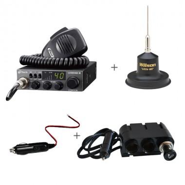 Pachet statie radio CB M-Tech Legend II cu antena Wilson Little Wil si accesorii