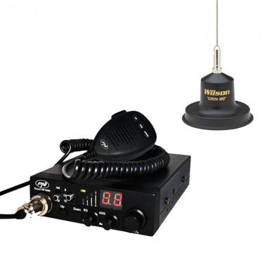Pachet statie radio CB PNI Escort HP 8000 ASQ cu antena Wilson Little Wil