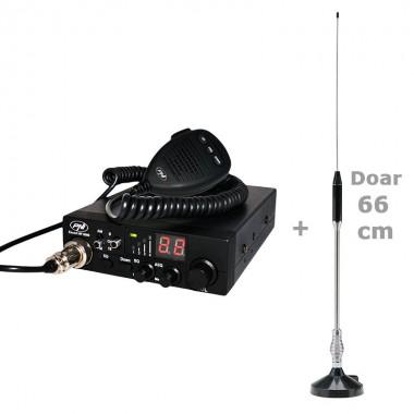 Pachet statie radio CB PNI Escort HP 8000 ASQ cu antena Midland 18-244 M