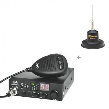 Pachet statie radio CB PNI Escort HP 8000L ASQ cu antena Wilson Little Wil