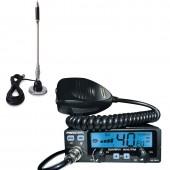 Pachet statie radio CB President Barry ASC 12/24 + antena CB Bytrex MiniPlus