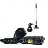 Pachet statie radio CB President Bill ASC, 12V + antena CB Bytrex MiniPlus