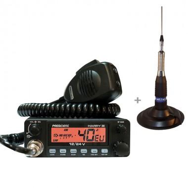 Pachet statie radio CB President Harry III cu antena radio CB TL-H ML 145