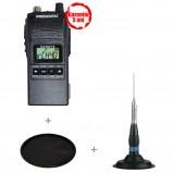 Pachet statie radio CB President Randy II M ASC cu antena President ML 145 si suport cauciuc 145U