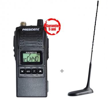 Pachet statie radio CB President Randy II M ASC cu antena President Virginia