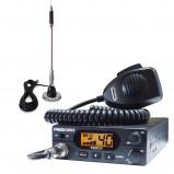 Pachet statie radio CB President Teddy ASC, ANL, Squelch automat si manual + antena CB Bytrex MiniPlus