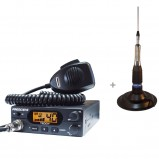Pachet statie radio CB President Teddy ASC cu antena radio CB TL-H ML 145