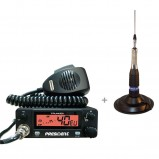 Pachet statie radio CB President Truman cu antena radio CB TL-H ML 145 si suport cauciuc