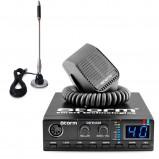Pachet statie radio CB Storm Defender, tehnologie SMD, control squelch + antena CB Bytrex MiniPlus