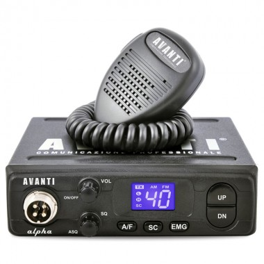 Statie radio CB Avanti Alpha, putere 4 W, tehnologie SMD, Squelch automat si manual