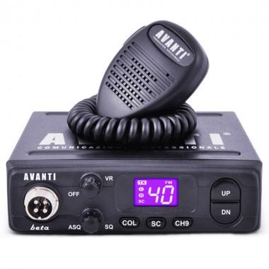 Statie radio CB Avanti Beta, tehnologie SMD, Display iluminat in 7 culori selectabile