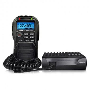 Statie radio CB Avanti Fortuna, Display LCD pe microfon, Toate comenzile pe microfon, Tehnologie SMD, Carcasa completa din aluminiu