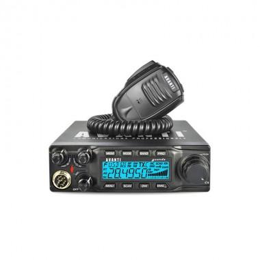 Statie radio CB Avanti Guarda, putere reglabla 4-40 W, ecou, multiple functii, 8 tipuri de Roger Bip