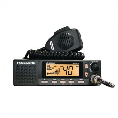Statie radio CB President Johnson II 12 / 24 V ASC