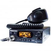 Statie radio CB President Teddy ASC, Putere 4W, ANL, Squelch automat si manual, S-meter digital, Funtie Beep
