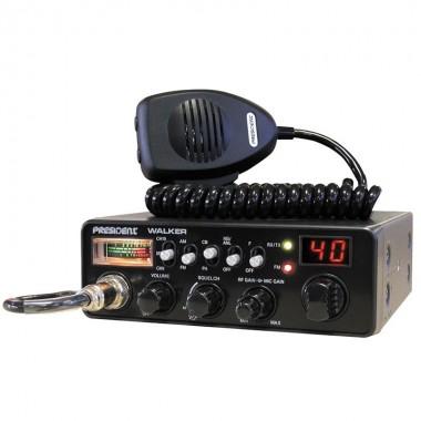 Statie radio CB President Walker ASC, Putere 4 W, S-metru Clasic, PA, ANL, Mic Gain, RF Gain, Squelch manual si automat