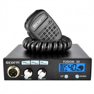 Statie radio CB Storm Fusion, putere 4 W, tehnologie SMD, roger beep, filtru interferente