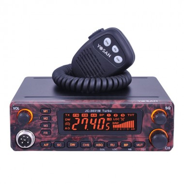 Statie radio CB Yosan JC3031M Turbo, putere 20 W, tehnologie SMD, mod Beep, Roger Beep, control Squelch