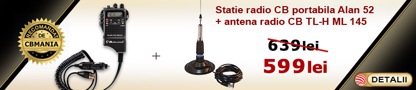 Promotie statie CB Alan 52 si antena ML 145