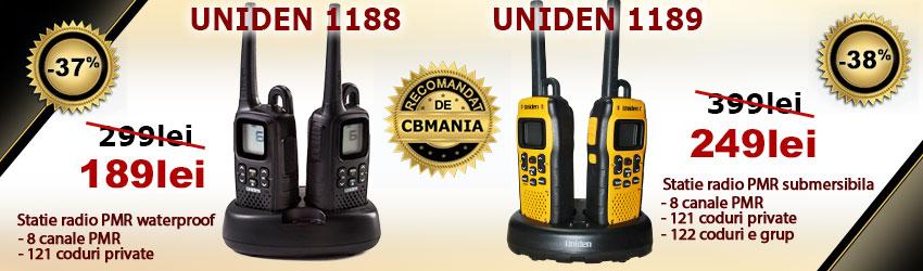 Statii radio PMR Uniden 1188 - 1189