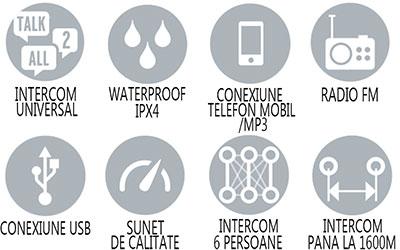 Caracteristici principale sistem comunicare Midland BT Next Intercom