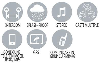 Caracteristici principale sistem comunicare Midland BT1 Intercom