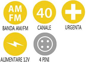 Caracteristici principale statie radio Alan 100 Plus B Romania
