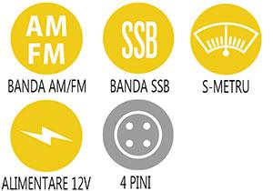 Caracteristici principale statie radio Alan 8001 S