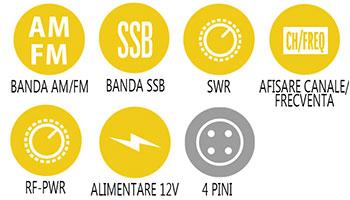 Caracteristici principale statie radio Alan 8001 XT