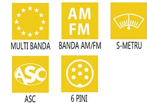Caracteristici principale statie radio President Taylor ASC