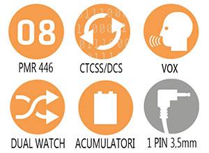Caracteristici principale statie radio PMR Alan Base 446