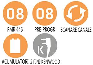 Caracteristici principale statie radio PMR Midland G10