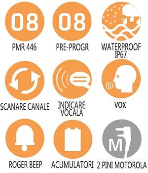 Caracteristici principale statie radio PMR Midland G15