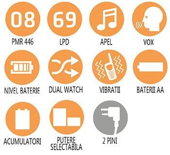 Caracteristici principale statie radio PMR Midland G7 XTR Single