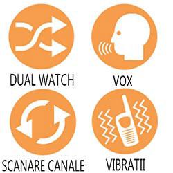 Functiile si optiunile disponibile pe statia radio PMR Midland G7 XTR Valibox