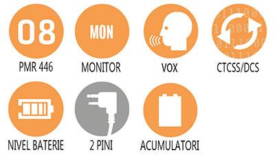 Caracteristici principale statie radio PMR Uniden 1188 2CK