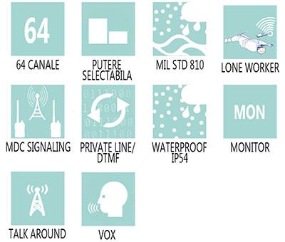Caracteristici principale statie radio profesionala Motorola CM160