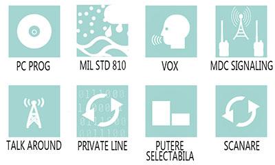 Caracteristici principale statie radio profesionala Motorola CP040