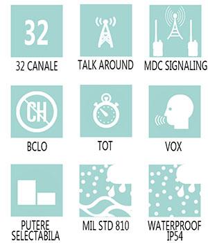Caracteristici principale statie radio profesionala Motorola CP160