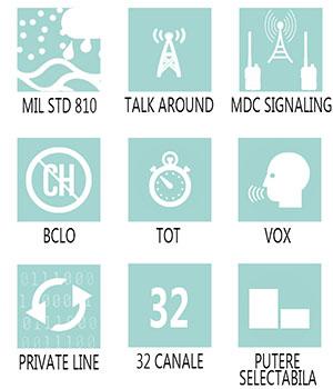 Caracteristici principale statie radio profesionala Motorola CP180
