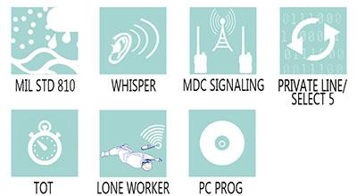 Caracteristici principale statie radio profesionala Motorola GP320